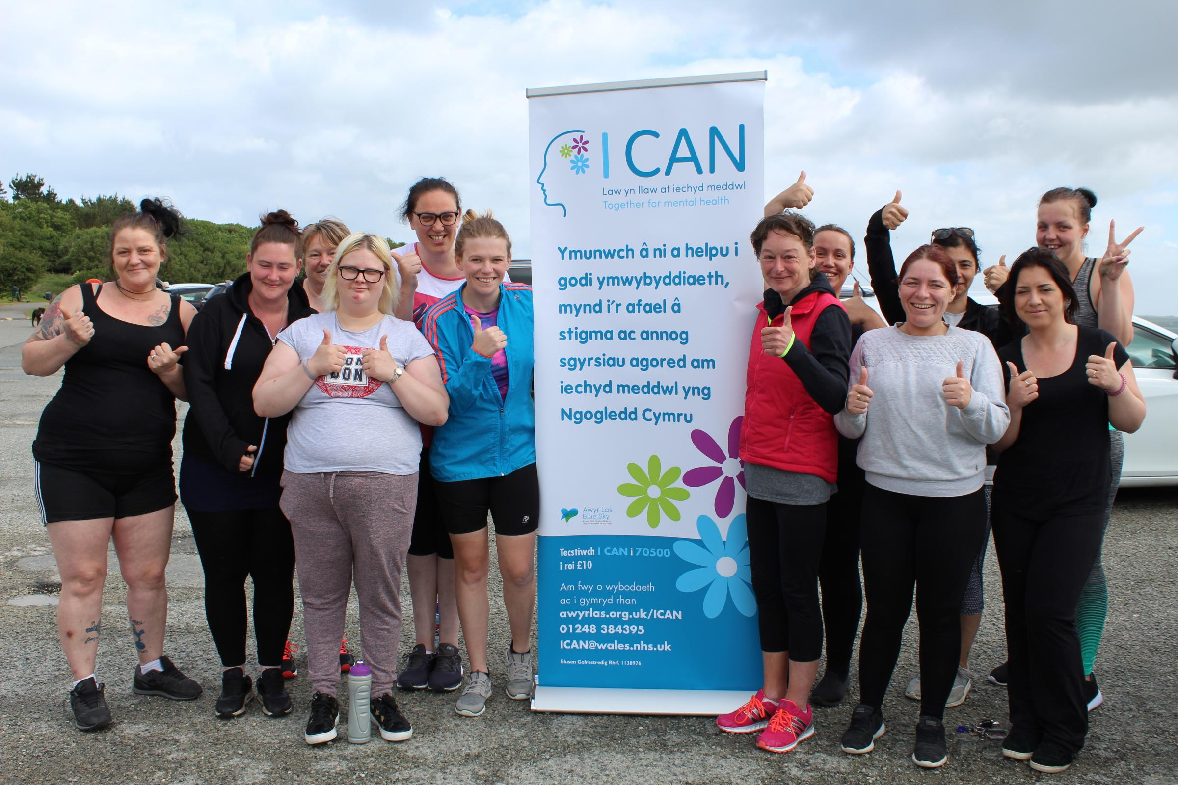 The 'Couch to 5K' running group from Holyhead. PICTURE: Betsi Cadwaladr