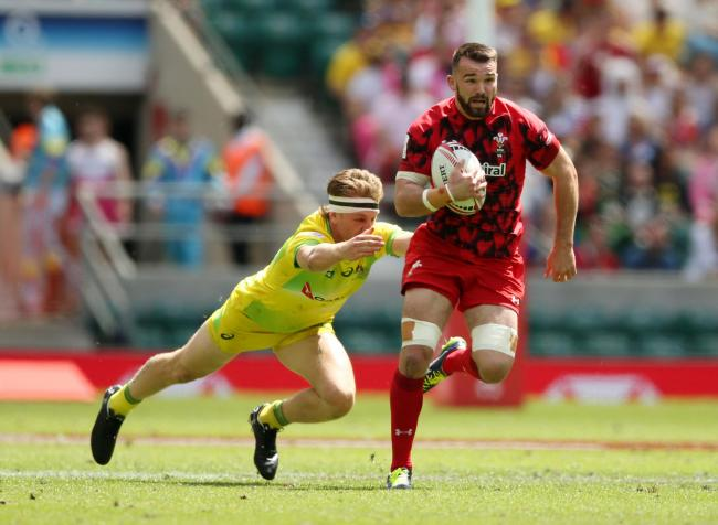 Afon Bagshaw in action for Wales 7s
