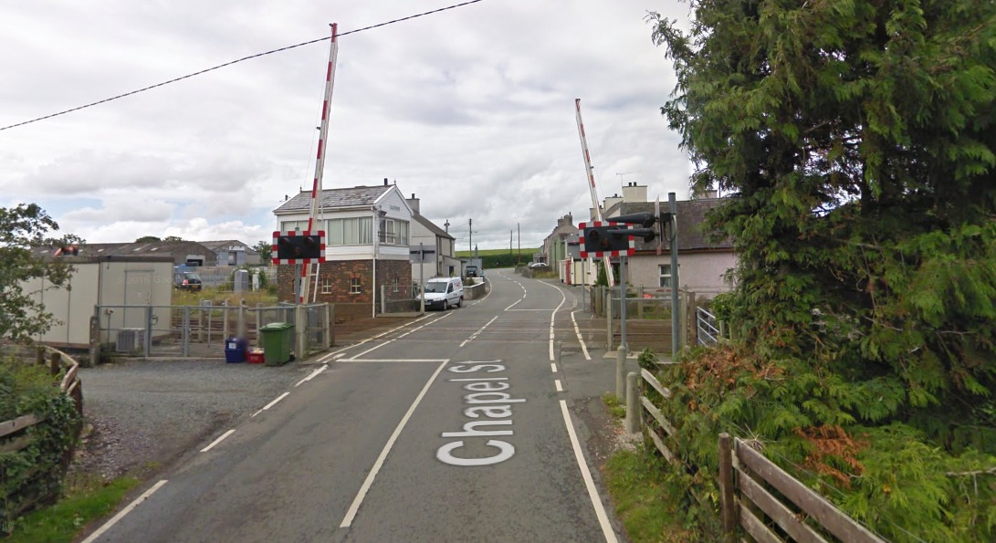 Picture: Chapel Street level crossing, Gaerwen. Picture: Google Streetview