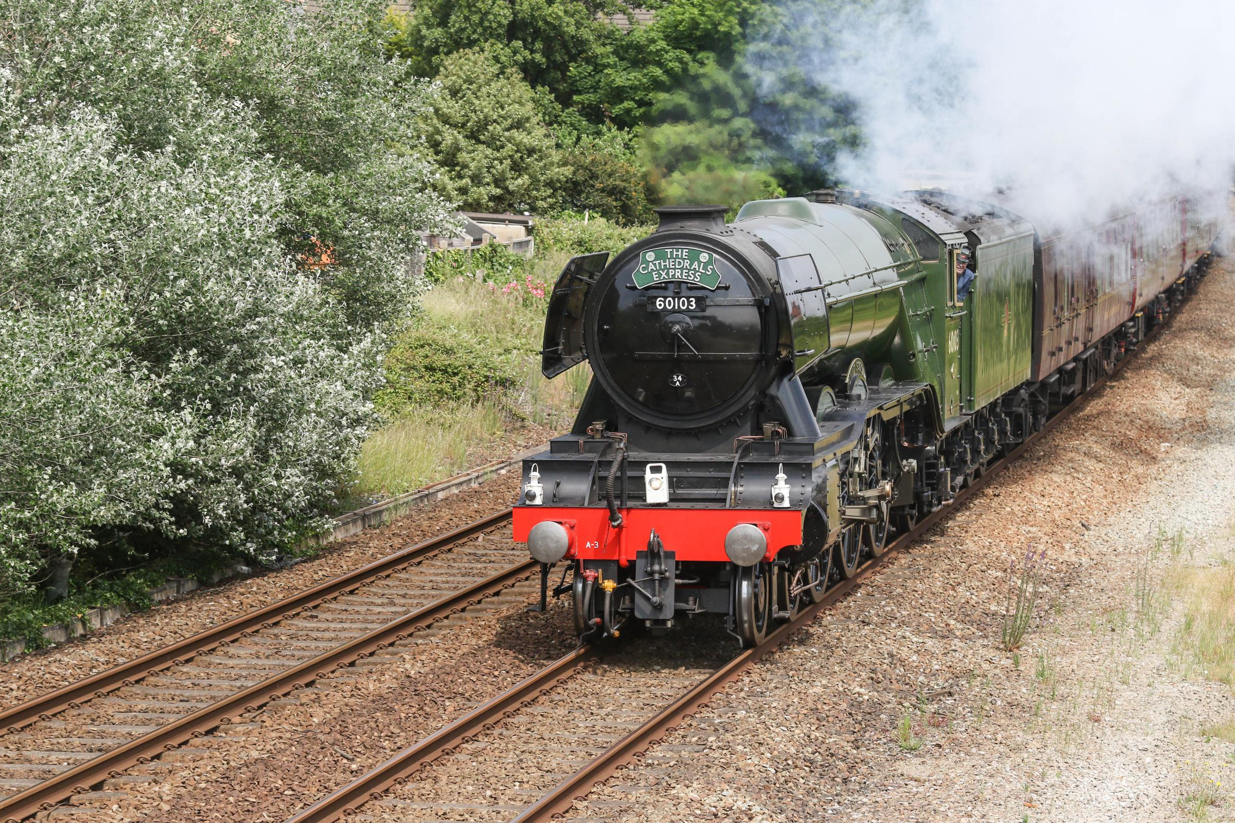 The Flying Scotsman departs Rhyl heading towards Holyhead. Picture: Don Jackson-Wyatt