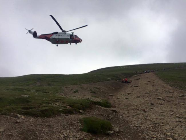 Llanberis Mountain Rescue Team helicopter. PICTURE: Facebook.
