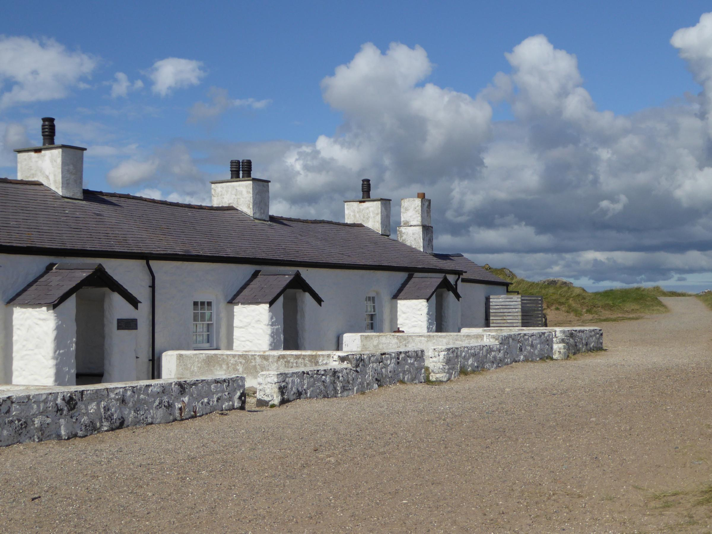Pilots cottages, Newborough, where cast of a BBC series will be staying for the next month. PICTURE: Natural Resources Wales.