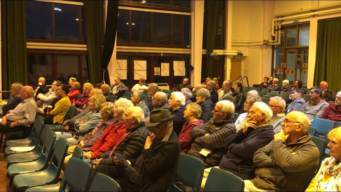 Anglesey residents turned out for a meeting over controversial plans for a new network of pylons.