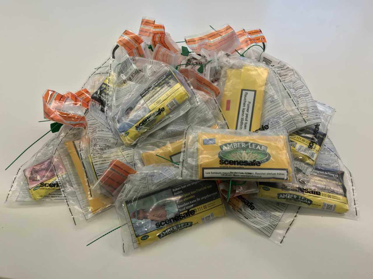 Illegal tobacco seized.
