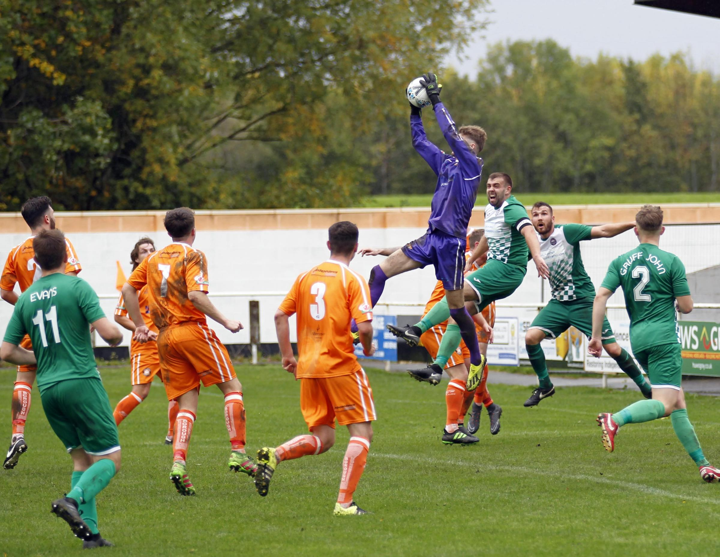 Conwy Borough suffered defeat on their travels at Prestatyn Town (Photo: Dave Thomas)