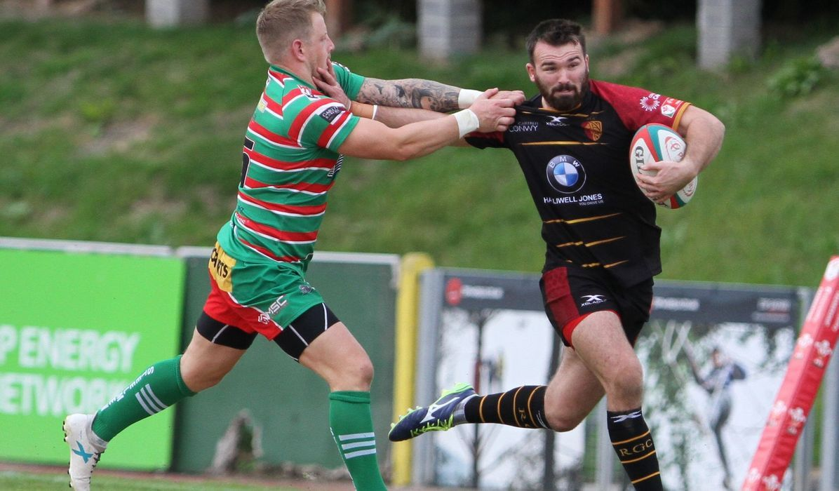 RGC full-back Afon Bagshaw in action (Photo by Tony Bale)
