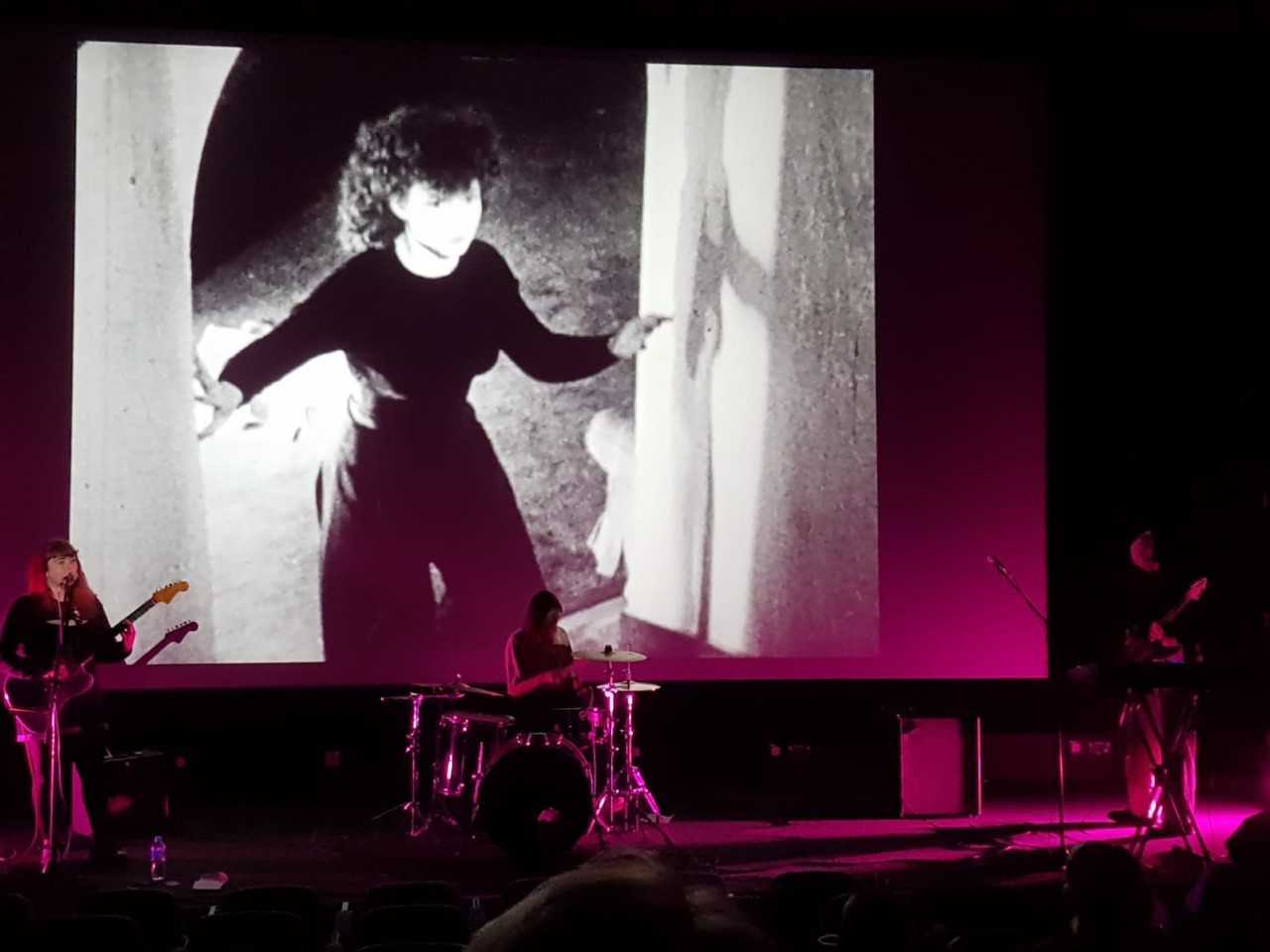 Carmarthen three piece Adwaith score the silent films of Maya Deren. Picture: Duncan Rieder