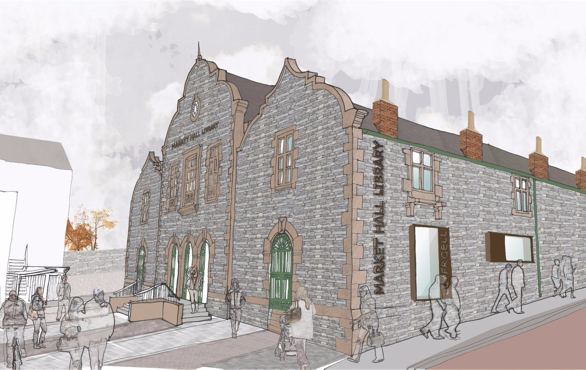 How the Market Hall in Holyhead now looks according to artist's impression. PICTURE: Anglesey Council