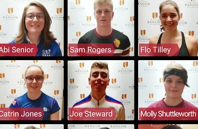 Bangor University's Sports Scholarship recipients.