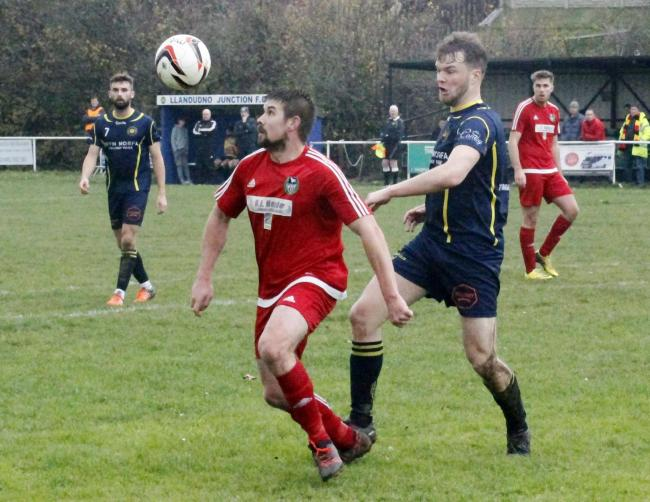 Dave Maddock hit a brace for Llandudno Albion
