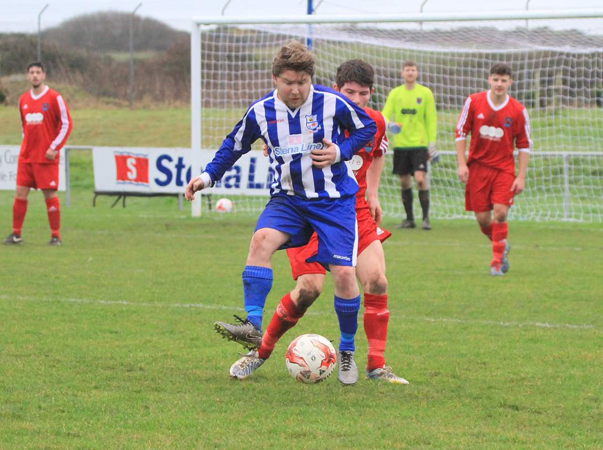 Mel McGinness netted Holyhead Hotspur's only goal in their defeat to Flint Town United