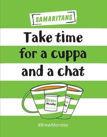 Samaritans is fighting back against Blue Monday with a cuppa