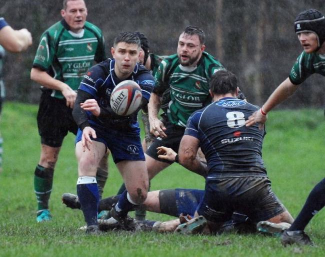 Action from Dolgellau's win over Bangor