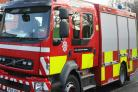 Four fire crews were called to the incident on Eagles Farm Road on Sunday afternoon.
