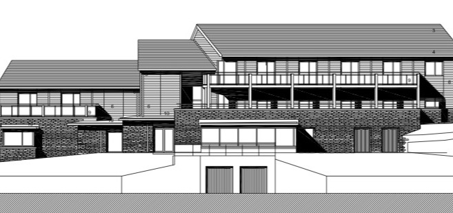 Gwynedd Council officers are recommending that the green light should be given for the proposals to demolish T? Glan Menai on Ffordd yr Aber, which was once the clubhouse for the town\'s golf course. Screengrab from Planning Application, free to
