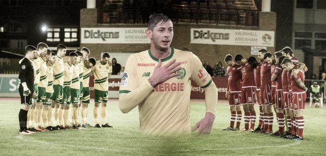 A poignant image published by Connah's Quay Nomads of the silence ahead of playing Caernarfon Town. Picture: Nik Mesney - NCM Media