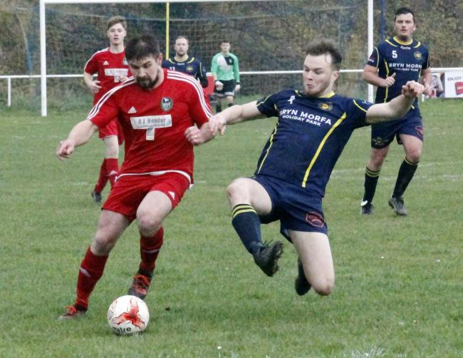 Dave Maddock opened the scoring for Llandudno Albion (Photo by Dave Thomas)