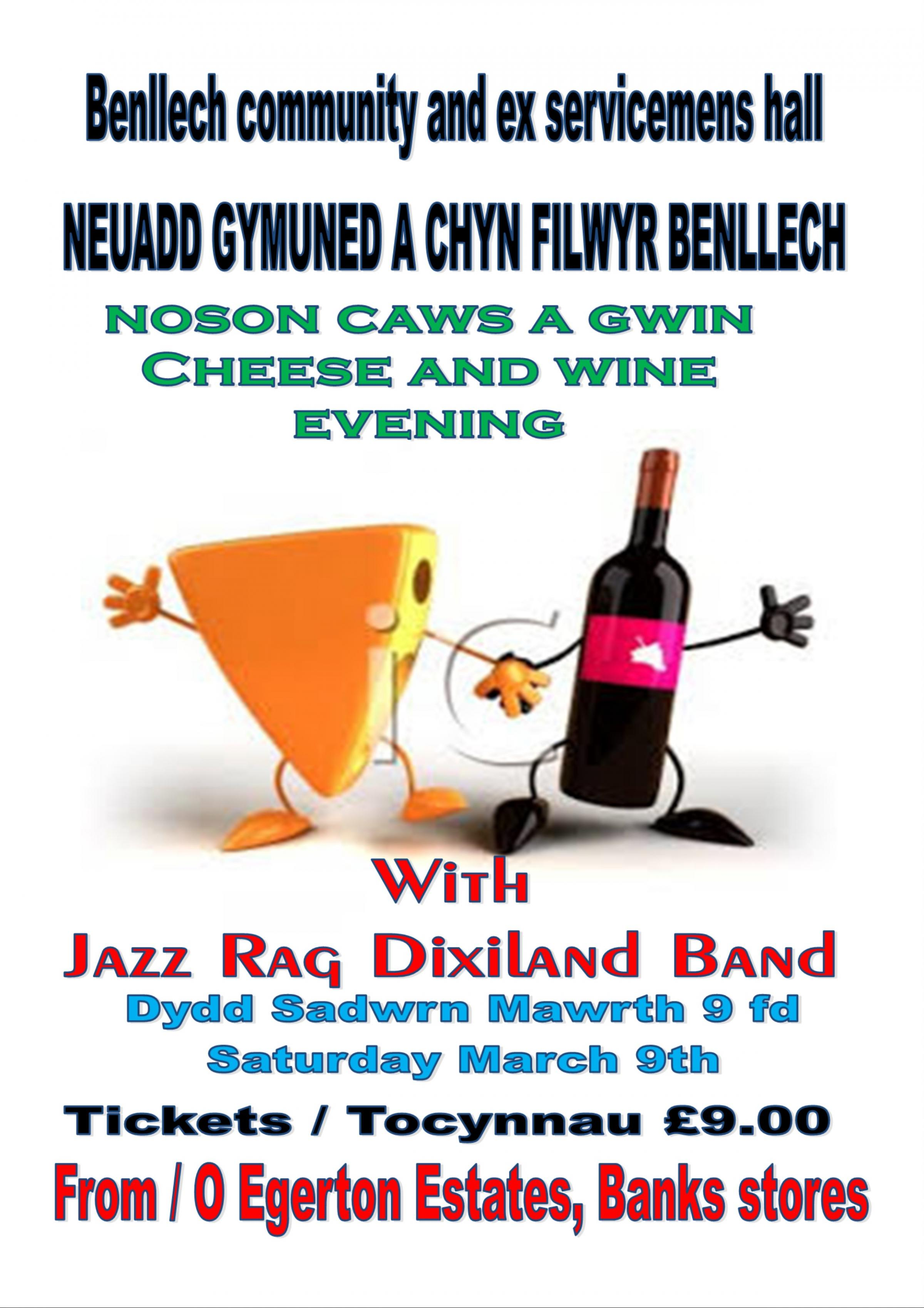 Cheese and wine evening with Jazz Rag Dixiland band