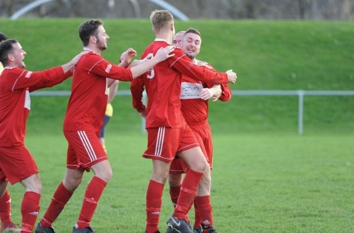 Prestatyn Sports picked up an important win at Llandyrnog United (Photo by Damon Mead)
