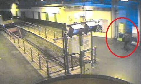 Martin Maguire caught on CCTV in Holyhead. PICTURE: British Transport Police.