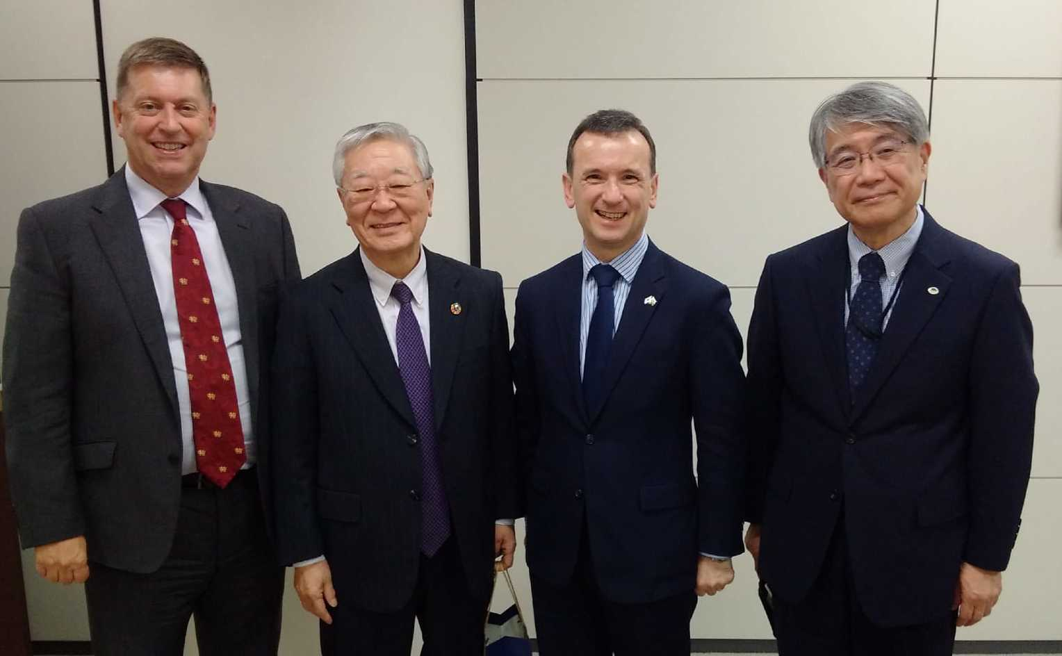 Welsh Secretary Alun Cairns (third from left) during his visit to Japan. PICTURE: Welsh Government.