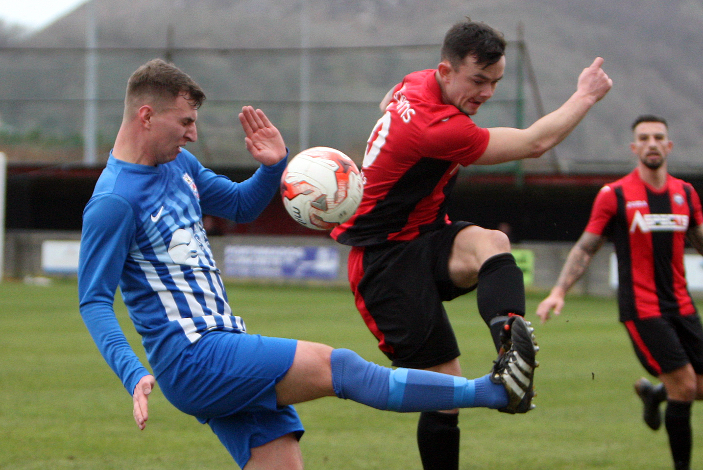 Holyhead Hotspur were beaten by Ruthin Town in their final Huws Gray Alliance home fixture before relegation (Photo by Richard Birch)