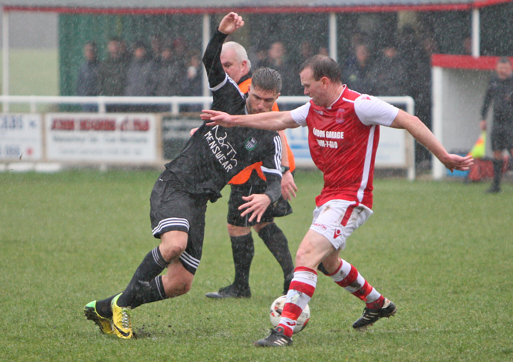 Peter Jones hit a hat-trick against Prestatyn Sports (Photo by Richard Birch)