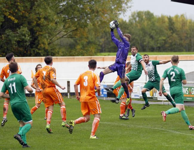 Conwy Borough were narrowly beated at home by Flint Town United (Photo by Dave Thomas)