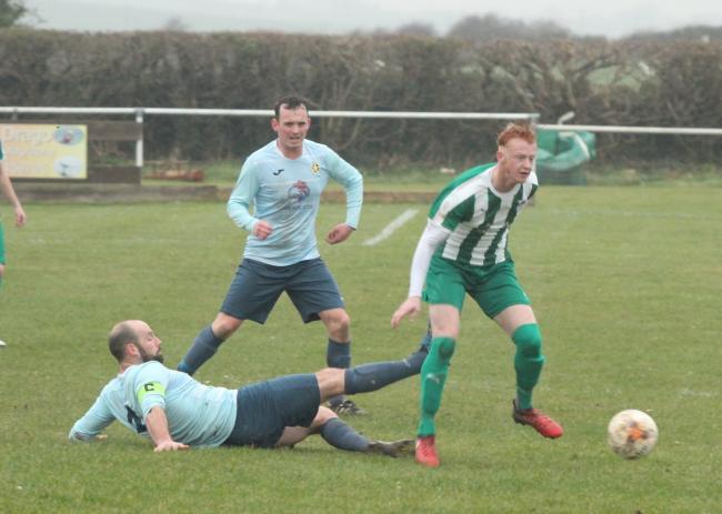 Bodedern Athletic were beaten at Llanberis (Photo by Nigel Williams)
