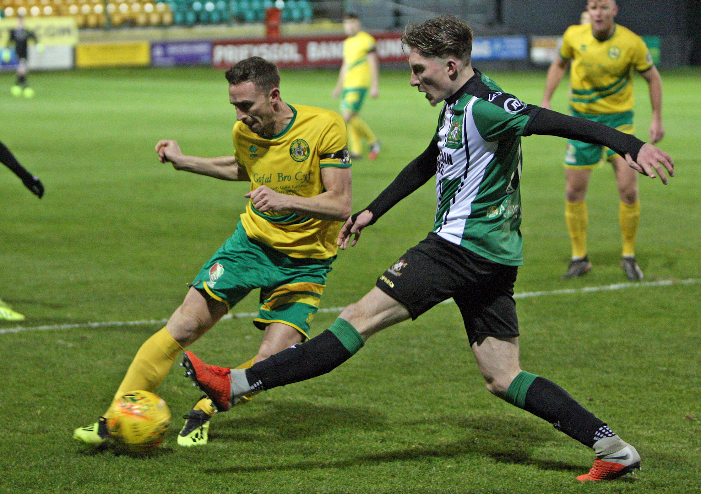 Caernarfon Town were beaten by defending champions The New Saints (Photo by Richard Birch)