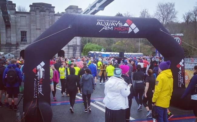 Thousands turned out for the race - despite the ominous weather. Picture: Facebook/ Always Aim High Events