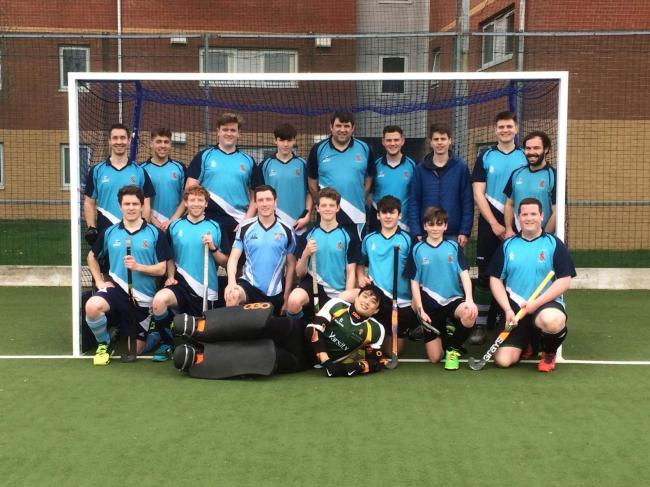 Bangor Hockey Club line up before their final league fixture