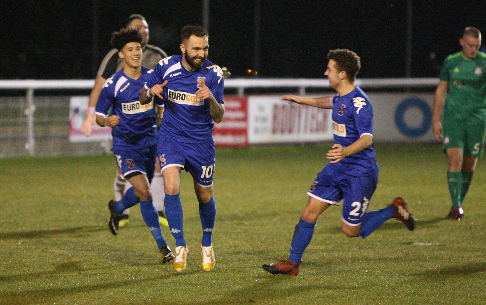 Robbie Parry netted Bangor City's consolation against Penrhyncoch (Photo by Richard Birch)