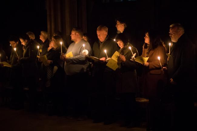 The candlelit Easter Vigil and Holy Eucharist at Lichfield Cathedral
