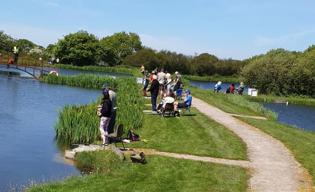 A fishing charity day out