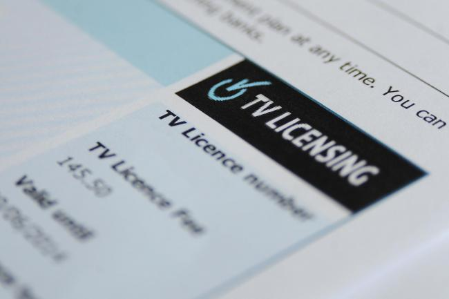 File image of TV licence