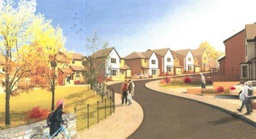 On Monday the planning committee will debate plans put forward by Watkin Jones for the 29 home development at Lon Cefnwerthyd, Bontnewydd. Screengrab of artist\'s impression from planning application.