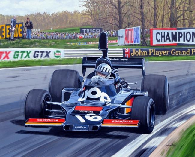 The Andrew Kitson painting will be a major award at Anglesey Circuit