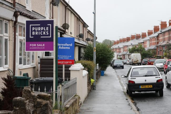 Estate agent for sale signs in Colwyn Bay. Picture: Kerry Roberts KR120619a